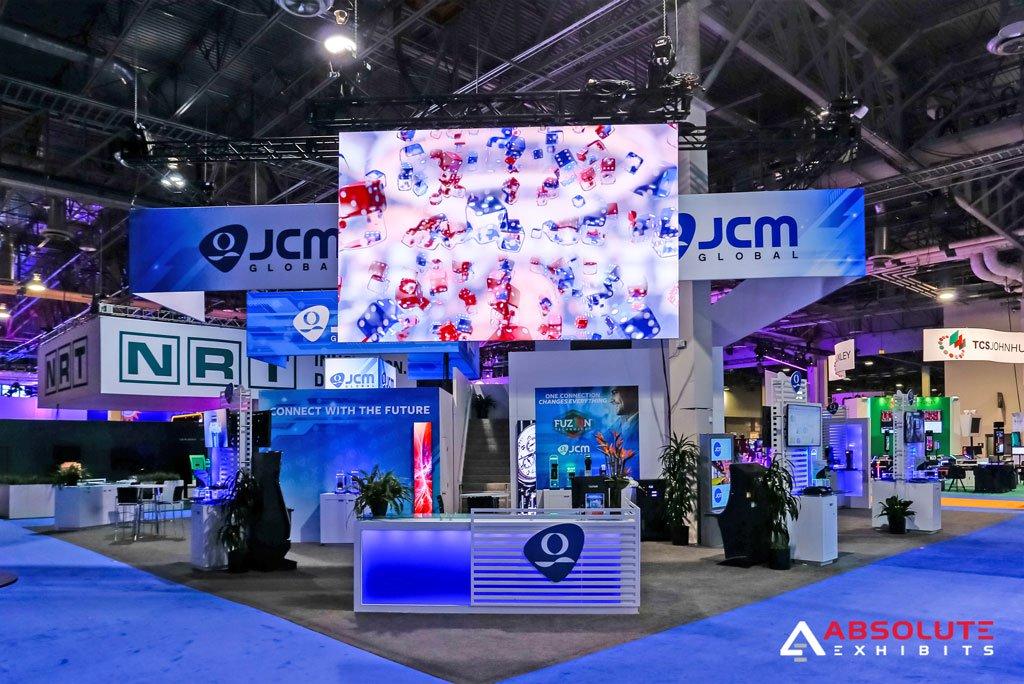 jcm global, booth, global gaming expo, g2e