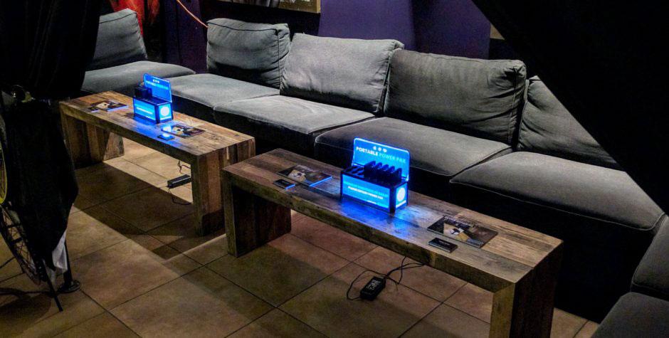 phone charging lounge