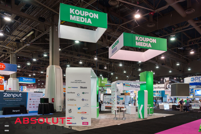 Koupon Media Client Spotlight trade show exhibit