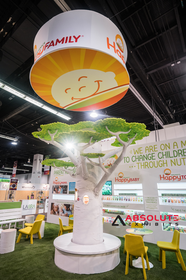 natural products trade show display