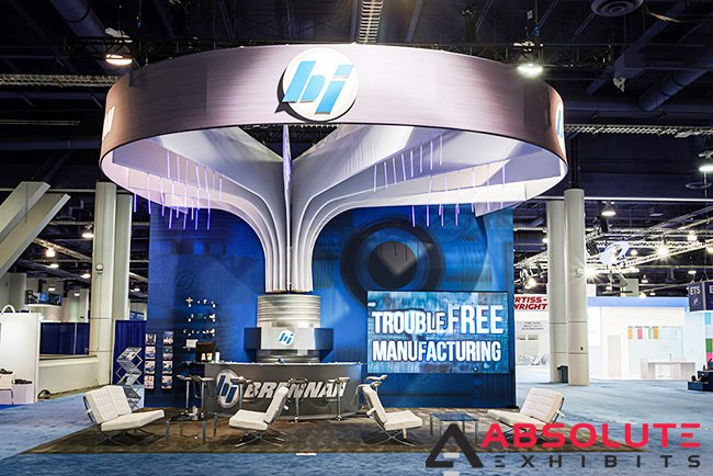 LED lighting in trade show display