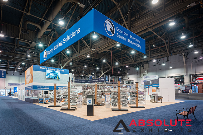 trade show exhibit by Absolute Exhibits