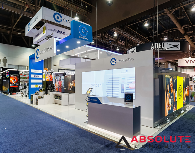 divided trade show exhibit