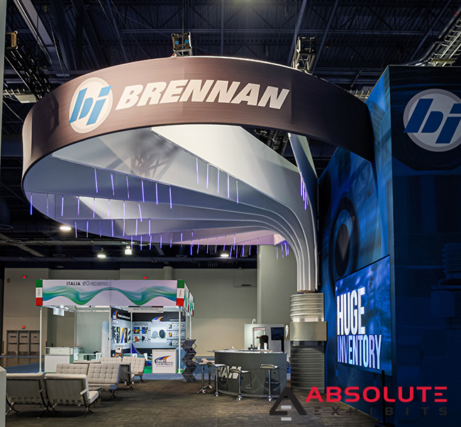 Brennan Industries trade show exhibit by Absolute Exhibits
